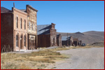 View of Main Street, historic Bodie, California
