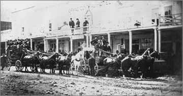 Stagecoach on Bodie's Main St.